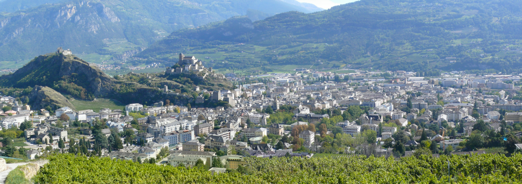 Sion City, main capital of the Canton Valais